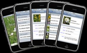 le guide des fleurs pour vos randonnées, disponible sur iphone et ipod touch