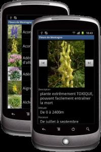 Fleurs de Montagne pour Android : le guide découverte des fleurs en rando